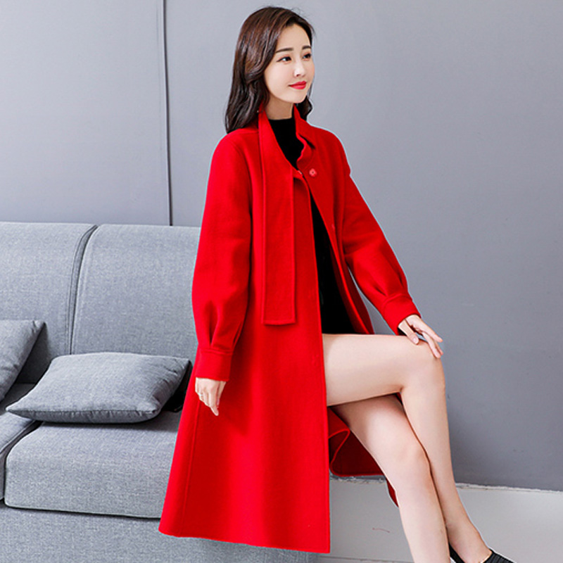 Haute Femmes Hiver Laine Chaud Manteaux Automne Élégantes De Dames Qualité 1923 Nouvelle coréen Vêtements Khaki red Manteau Femme rxvrIq