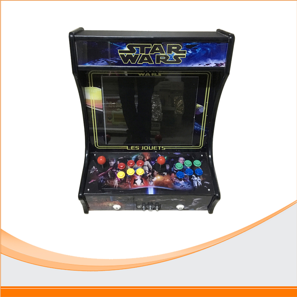 22 inch table top arcade machine  LCD monitor 2 player Desk Arcade Game Machine with 680 in 1 multi game jamma game board mini table top air hockey game pushers pucks family xmas gift arcade toy playset