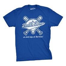 Mens Balls Deep Funny Baseball Shirts Hilarious 3rd Base Offensive Gift Idea T Harajuku Fashion Classic Unique free shipping