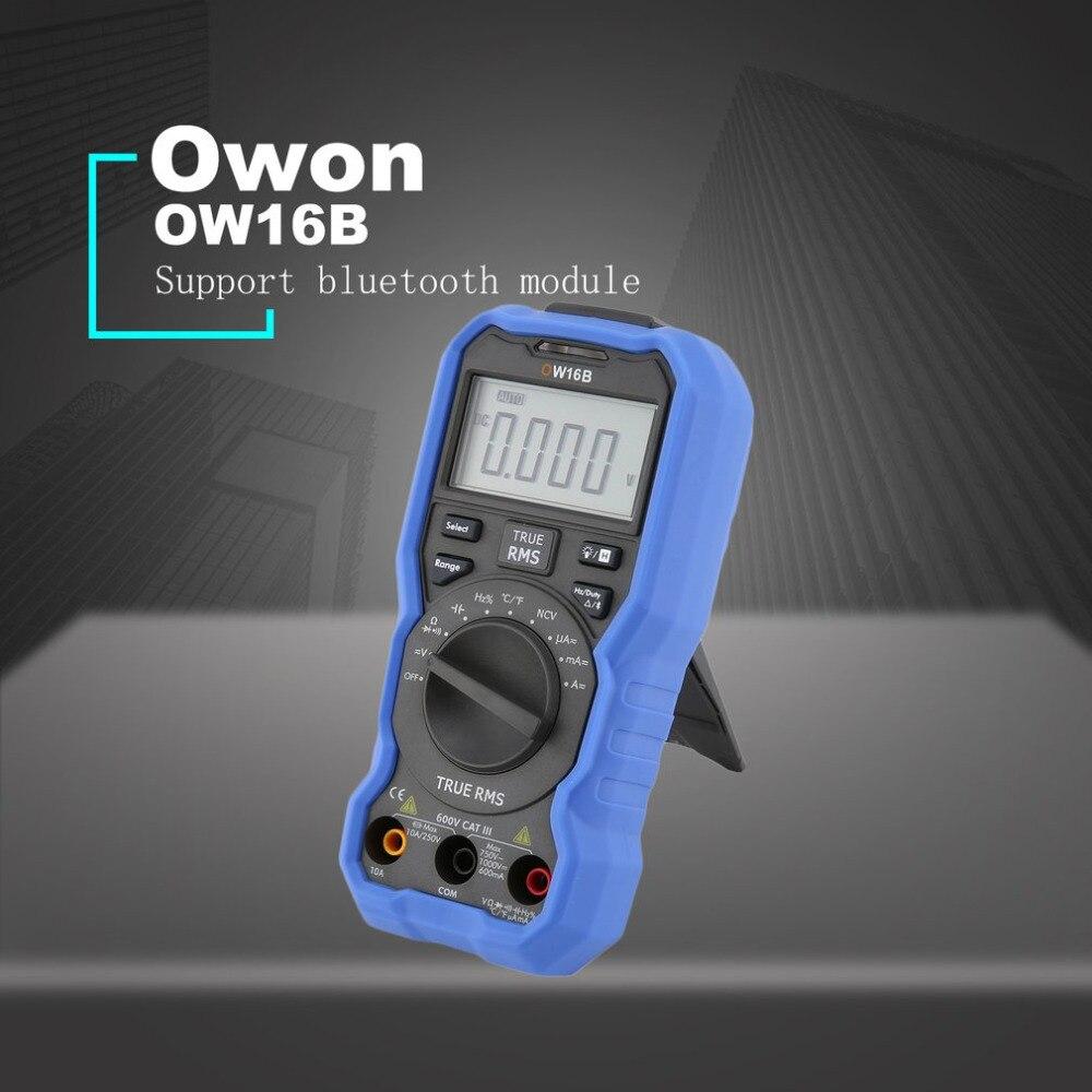 Owon OW16B Rétro-Éclairage LCD Multimètre PCI AC/DC Voltmètre Ampèremètre Vrai RMS Diode Résistance Fréquence Testeur de Continuité