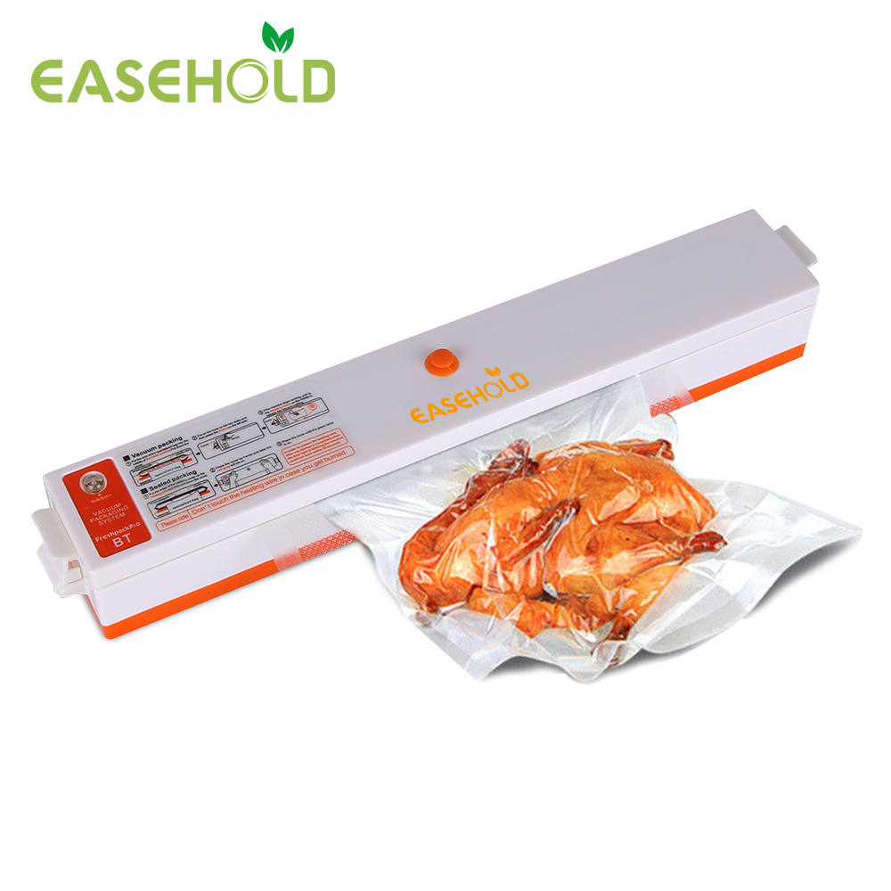 EASEHOLD 220V Household Automatic Portable Food Vacuum Sealer Packaging Machine Film Sealer Vacuum Packer Including 15Pcs Bags portable food vacuum sealer food saver vacuum packer container film packaging heat sealing machine including 15pcs bags 220v