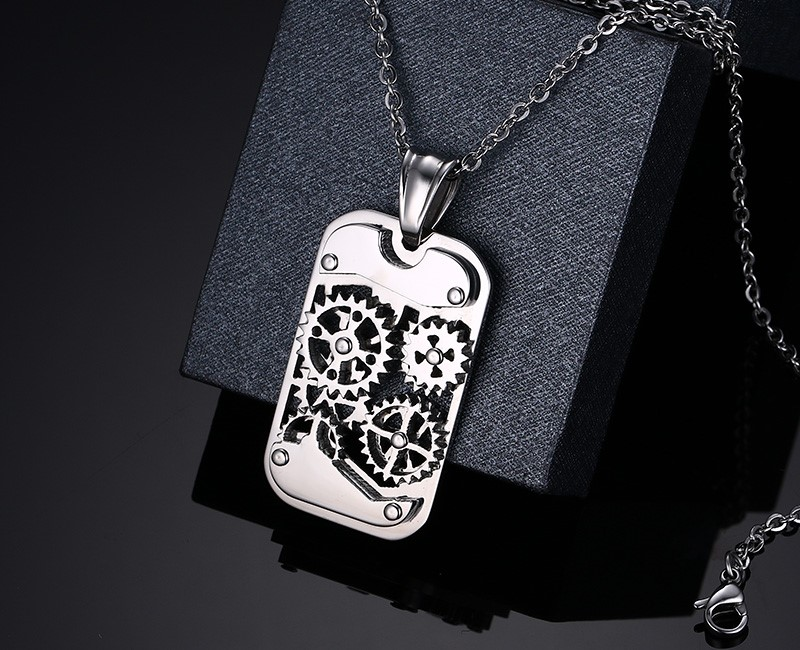 Vnox fashion steampunk machine pendants jewelry stainless steel vnox fashion steampunk machine pendants jewelry stainless steel gear design men pendantsnecklaces jewelry cool in pendant necklaces from jewelry mozeypictures Image collections