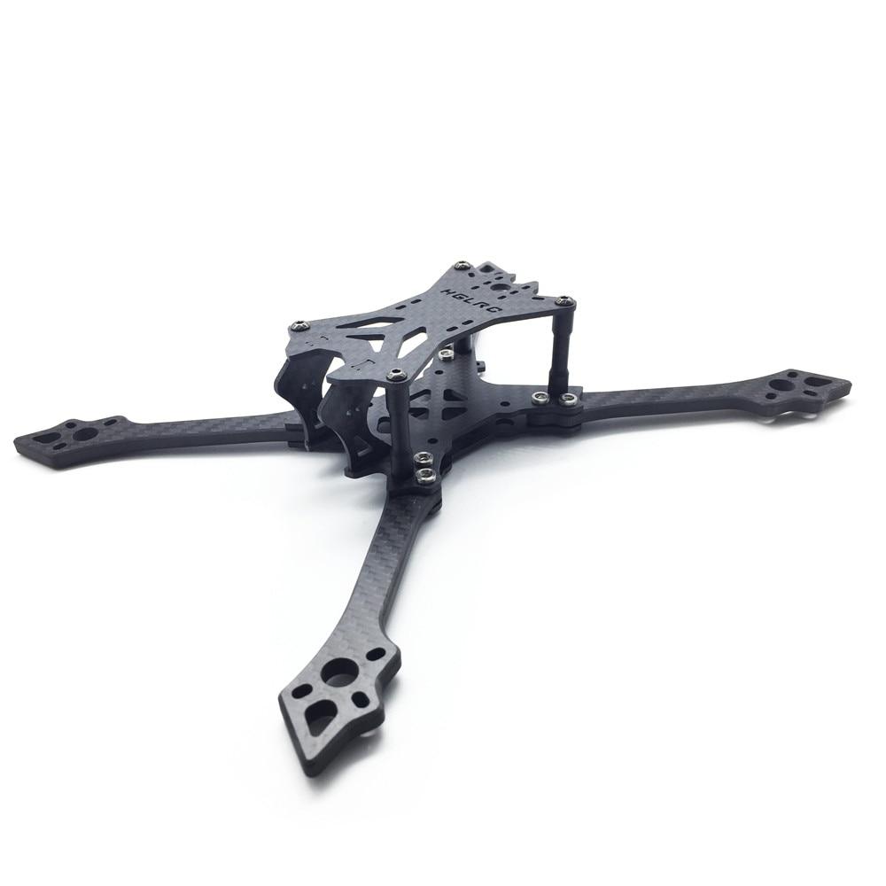 HGLRC For Batman220 220mm Carbon Fiber 5mm Arm Frame Kit for RC Models Multicopter Motor ESC Spare Part Accessories high quality brotherhobby tornado 5215 330kv 12n14p 12s brushless motor for rc multi rotor models frame spare part accessories
