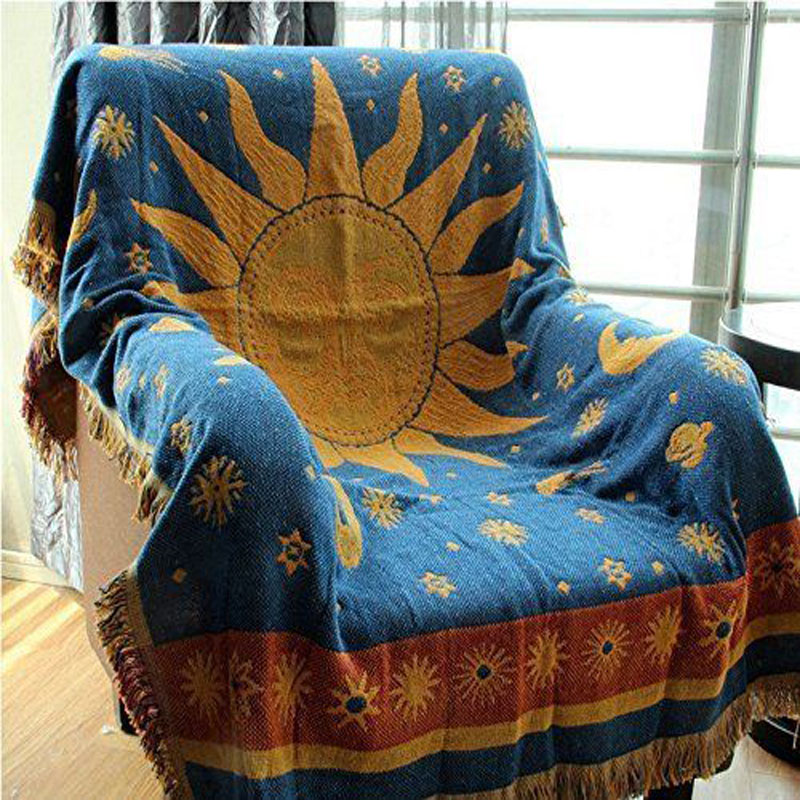 World Map Throw Rug: World Map Blanket Throw Rugs Tapestry Vintage Sofa Cover