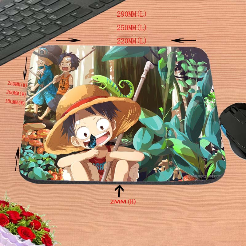 Customization Support Top Selling New Anti-Slip PC Cartoon Anime One Piece Silon Gaming Mouse Mat Pad Me Mat for Optal Pad