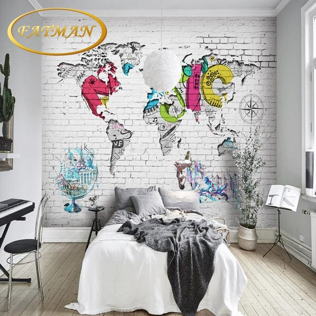 Online shop custom photo wallpaper world map wallpaper graffiti custom photo wallpaper world map wallpaper graffiti background wall home decoration coffee house bedroom wallpaper mural gumiabroncs Choice Image