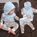 2017 New style Baby Clothing Sets cute baby Boys clothes Fashion hooded Long Sleeve 2pcs Baby girls Clothes set bebes