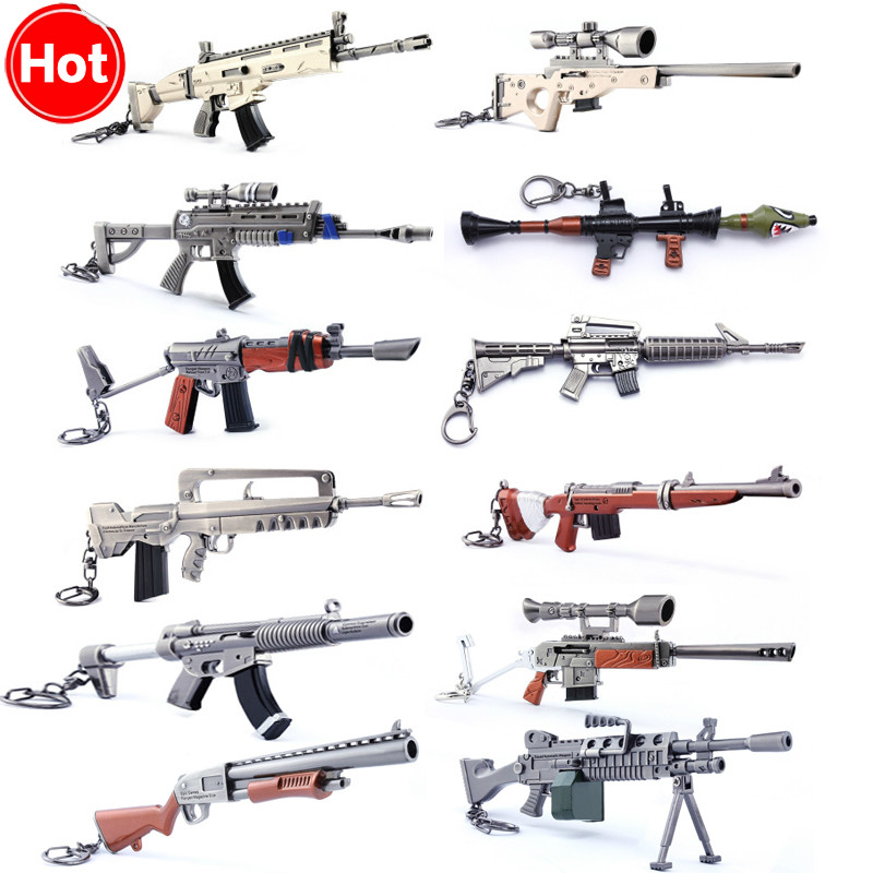 Hot Sale 2018 New Fortress Night Keychain Toy Battle Royalen Weapon