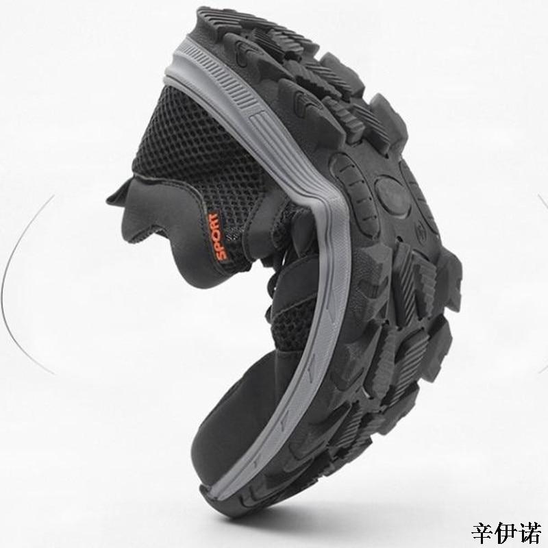 Seguridad Negro Mágica Del Pie Punción De Libre Hombres Acero Calzado Nuevos Sneaker Tapa Botas gris Zapatos 37 Trabajo Aire Cinta Prueba Al Moda Soldadura Dedo 45 Oscuro aq8ISnw