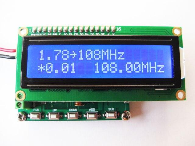 DDS FM generator sygnału 78 ~ 108 MHz PLL