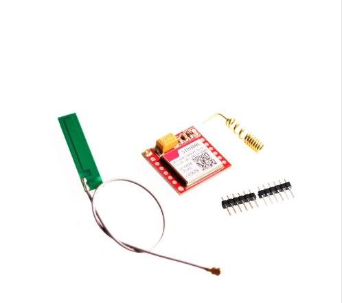 Più piccolo SIM800L GSM GPRS Modulo Bordo di Centro di Carta di MicroSIM Quad-band TTL Porta Seriale