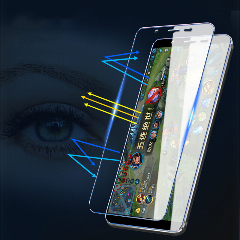 Suntaiho 3D Tempered Glass for Samsung Galaxy S8 S9 Plus Anti Blue Light Glass film for Galaxy Note 8 s6 s7edge Screen Protector