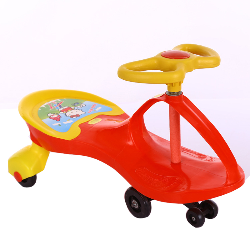 Children Swing Car Twist Car Baby Walker Tricycle Riding Toys Portable No Foot Pedal Children Three Wheel Balance Car Scooter