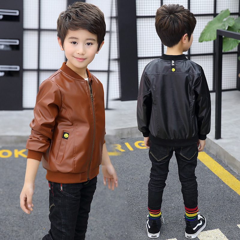 e47060097 Kindstraum New Spring Boys Fashion Leather Jackets Kids Brand 2018 ...