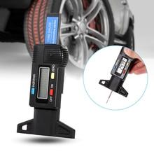 1 Pcs Car Tyre Digital Display Electronic Tire Tread Depth Gauge Measurer Caliper LCD Display 0-25.4mm AP Valve Stem
