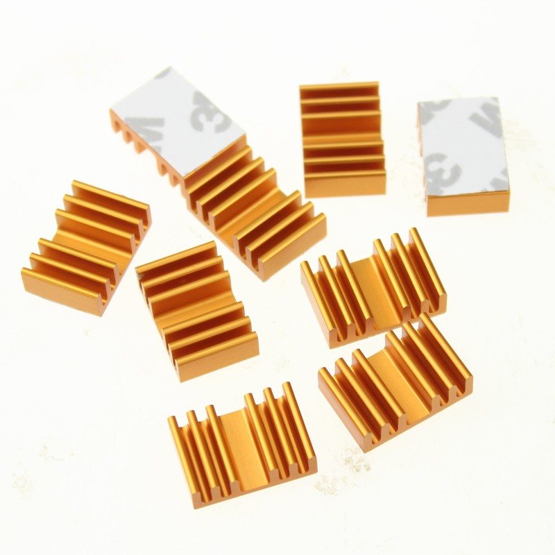20 Pieces lot Radiator Extruded Cooler Heatsink Cooling For IC Video Memory Card in Fans Cooling from Computer Office