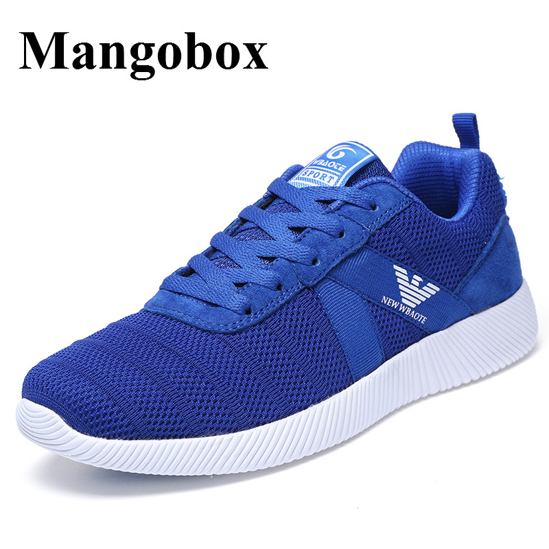 ФОТО Sports Shoes For Running Blue/Black Sneakers Men Brand Spring/Summer Tracking Shoes Men Breathable Running Sneakers Men