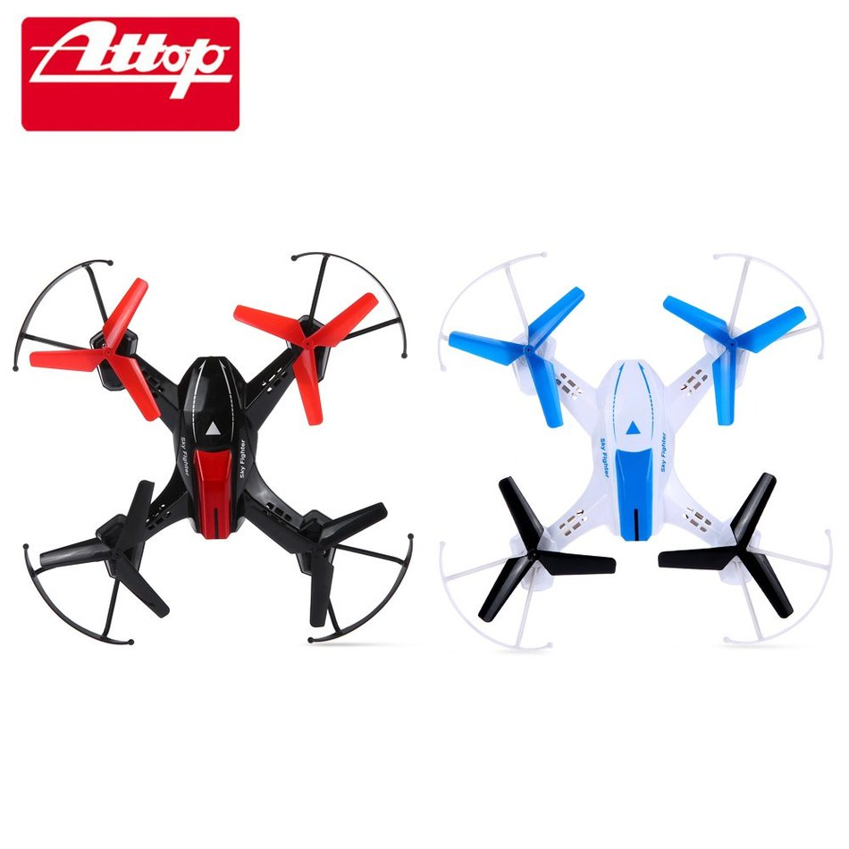 Super 2Set Two Colors Plastic 6-Axis Gyro RTF Remote Control Quadcopter ATTOP YD - 822   2.4G 4CH RC Toy Family Battle Game