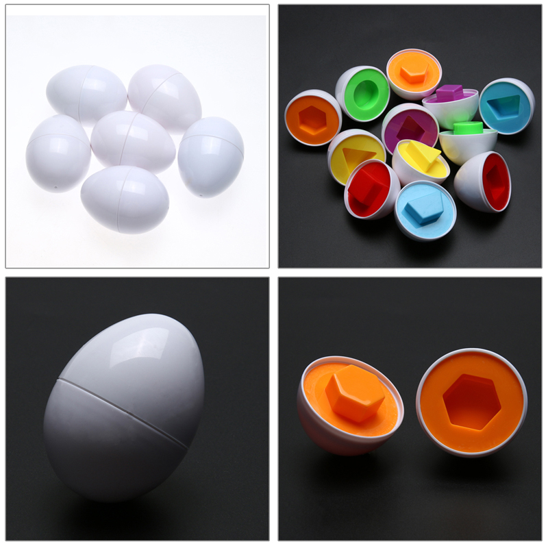 6Pcs/Set Pairings Smart Egg Capsule Study Color Children Assembly Blocks Educational Geometric Shape Matching Toys ...