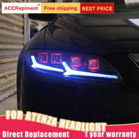 2Pcs LED Headlights For Mazda 6 Atenza 2003 2008 led car lights Angel eyes ALL LED KIT Fog lights LED Daytime Running Lights