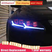 2Pcs LED Scheinwerfer Für Mazda 6 Atenza 2003-2008 led auto lichter Engel augen ALLE LED KIT Nebel lichter LED Tagfahrlicht