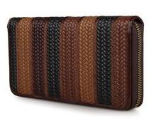 J.M.D Genuine Leather Patchwork Women Wallet Vintage Style Ladies Purse Clutch Bag 8091