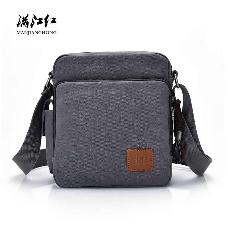 Fashion Canvas Messenger Bag Men Women Multi-functional Casual Men Shoulder Crossbody Bags Leisure Satchel Bag Handbag 1092-C/S leisure women s crossbody bag with splicing and color block design