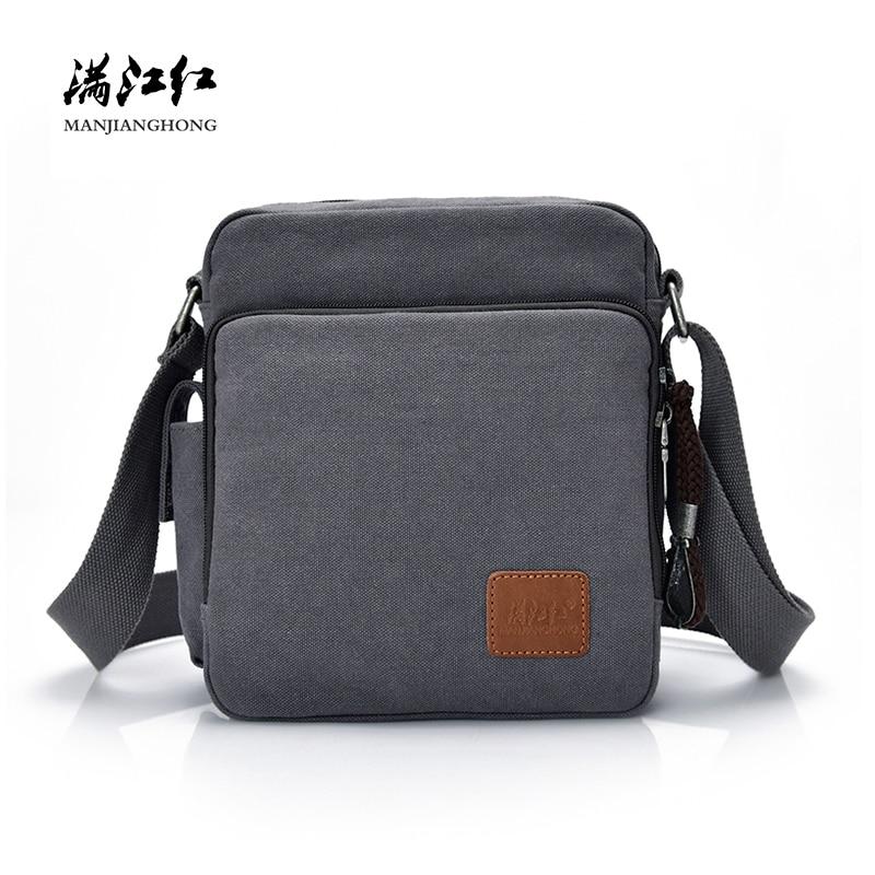 Fashion Canvas Messenger Bag Men Women Multi-functional Casual Men Shoulder Crossbody Bags Leisure Satchel Bag Handbag 1092-C/S
