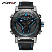 Foreign trade hot style movement led digital watch double shows men's fashion watches waterproof quartz watch wholesale