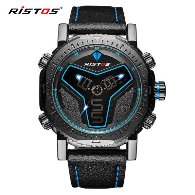 Foreign trade hot style movement led digital watch double shows men's fashion watches waterproof quartz watch wholesale chic mid waist button design ripped denim shorts for women
