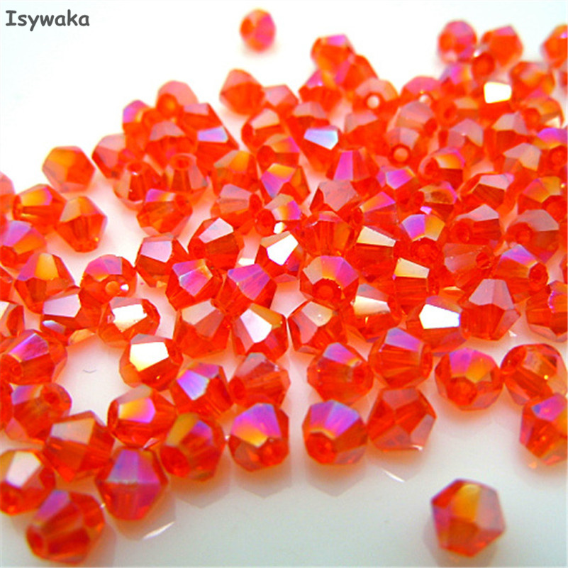 Beads Beads & Jewelry Making Isywaka Dark Red Color 100pcs 4mm Bicone Austria Crystal Beads Charm Glass Beads Loose Spacer Bead For Diy Jewelry Making