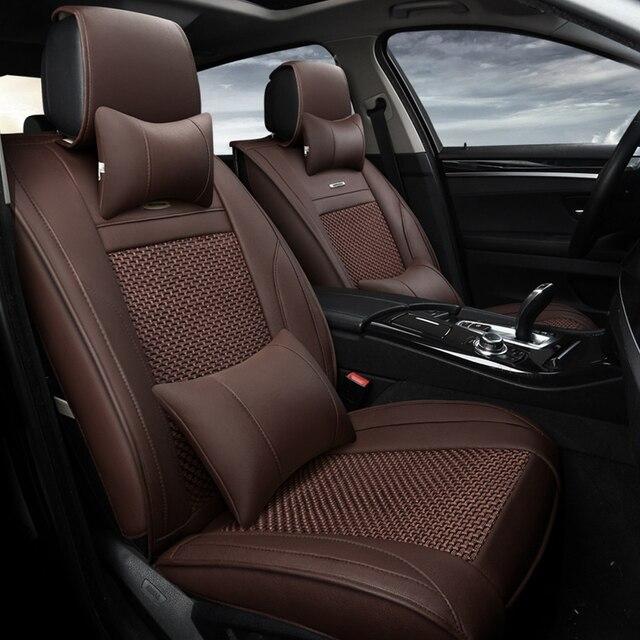 13 st cke l ften eis seide stoff autositzbezug luxus leder. Black Bedroom Furniture Sets. Home Design Ideas