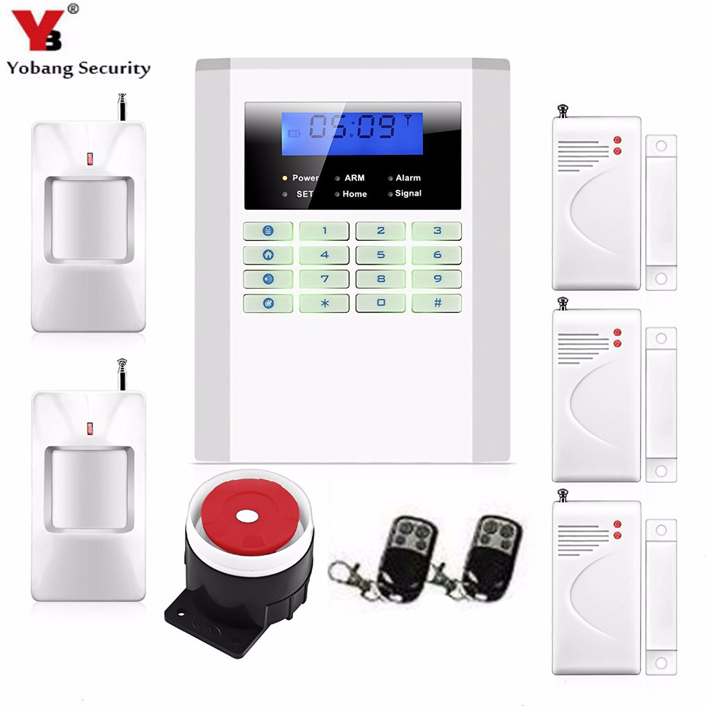 YobangSecurity 99 Wireless Zones Home GSM PSTN Security Alarm System English Russian Spanish French Italian Czech Portuguese yobangsecurity russian spanish french italian czech portuguese alarm gsm sms home burglar security wireless gsm alarm system