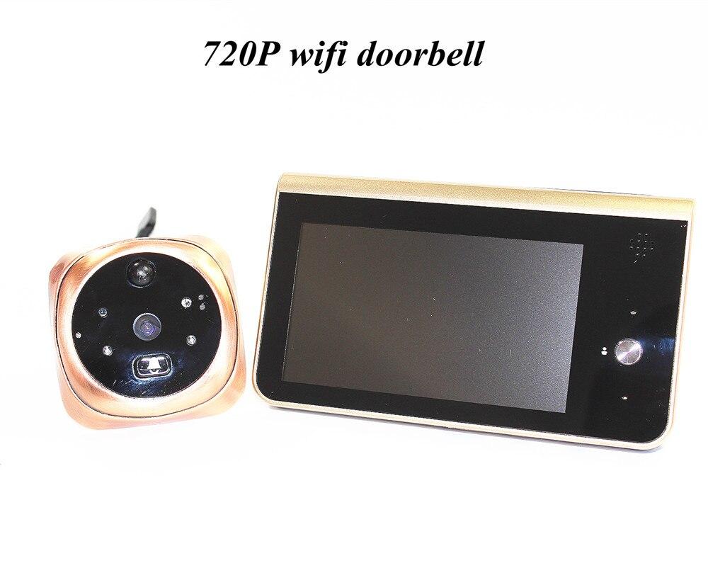 4.3 Inch Build-in battery 720p WIFI Doorbell Motion Detection Intercom Video Door Phone ...
