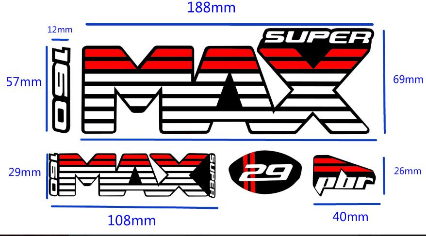 Lefty Supermax Bicycle Bikes Fork Set Decals MTB Racing DH Dirt Stickers