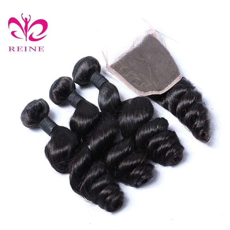 4 πακέτα με κλείσιμο χαλαρό κύμα - Ανθρώπινα μαλλιά (για μαύρο) - Φωτογραφία 4