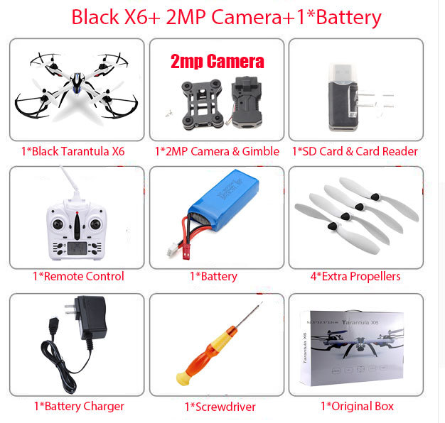 Hot sale 5MP or 2MP Camera Drone JJRC H16 YiZhan Tarantula X6 RC Quadcopter 6-Axis 2.4GHz Helicopter with Professional Hd Camera