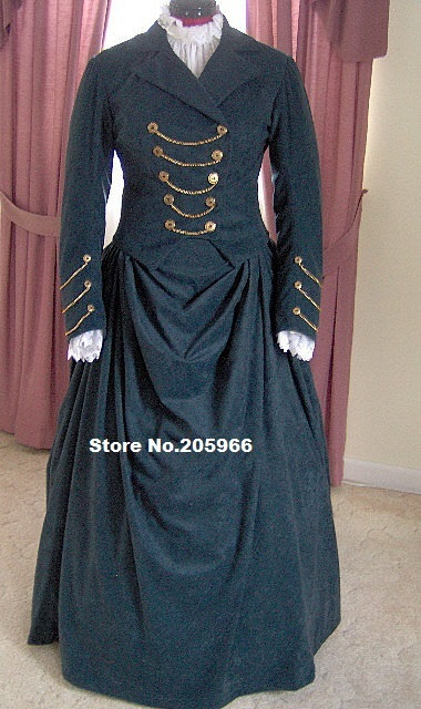 Custom Made 1800s Victorian Dress/2 piece Bustle Gown Traveling ...