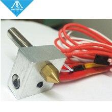 SıCAK! 3D yazıcı MK8 Ekstruder sıcak end kiti 12 V/24 V 0.4mm meme ısıtma MK8 Ekstruder hotend DIY aksesuarları KIT025