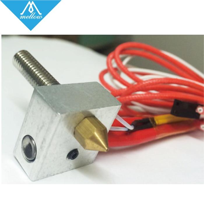 HOT 3D printer MK8 Extruder hot end kit 12V 24V 0 4mm nozzle heating MK8 Extruder