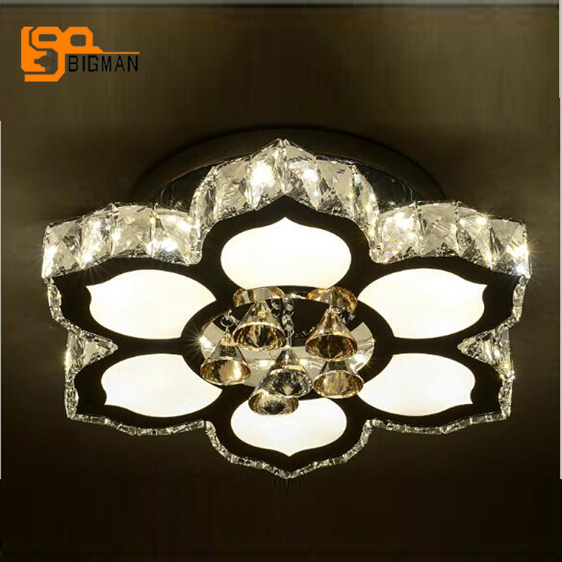 new design LED ceiliing light fixtures for living room bedroom modern crystal lamp