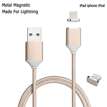 Magnetic Nylon Braided High Speed Charging Cable For ipad 4 5 mini air 2 Fast Lightning Micro USB