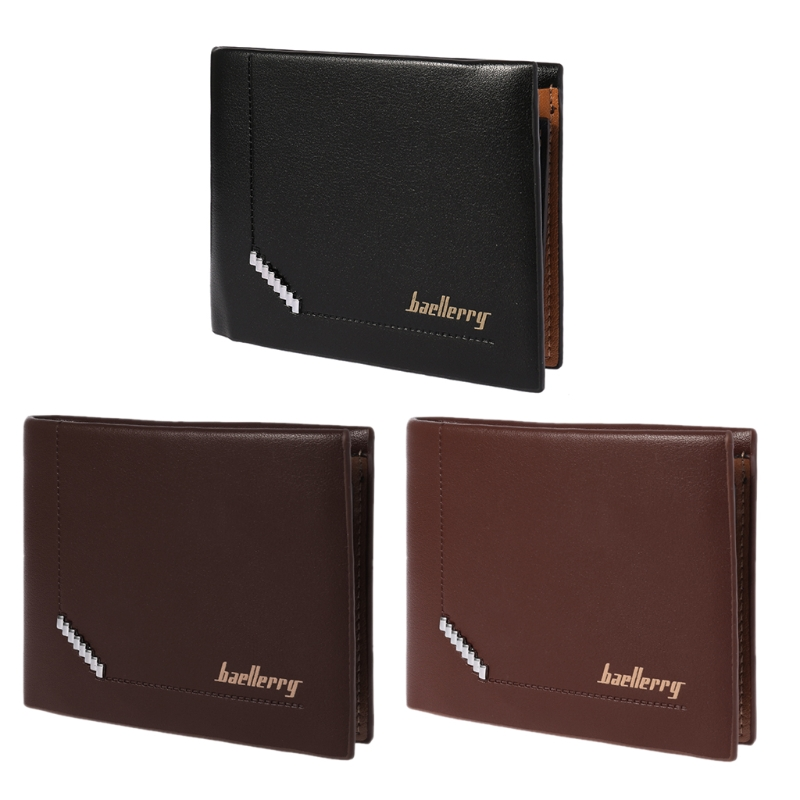 New Men/'s Bifold Leather ID Credit Card Holder Clutch Billfold Purse Wallet