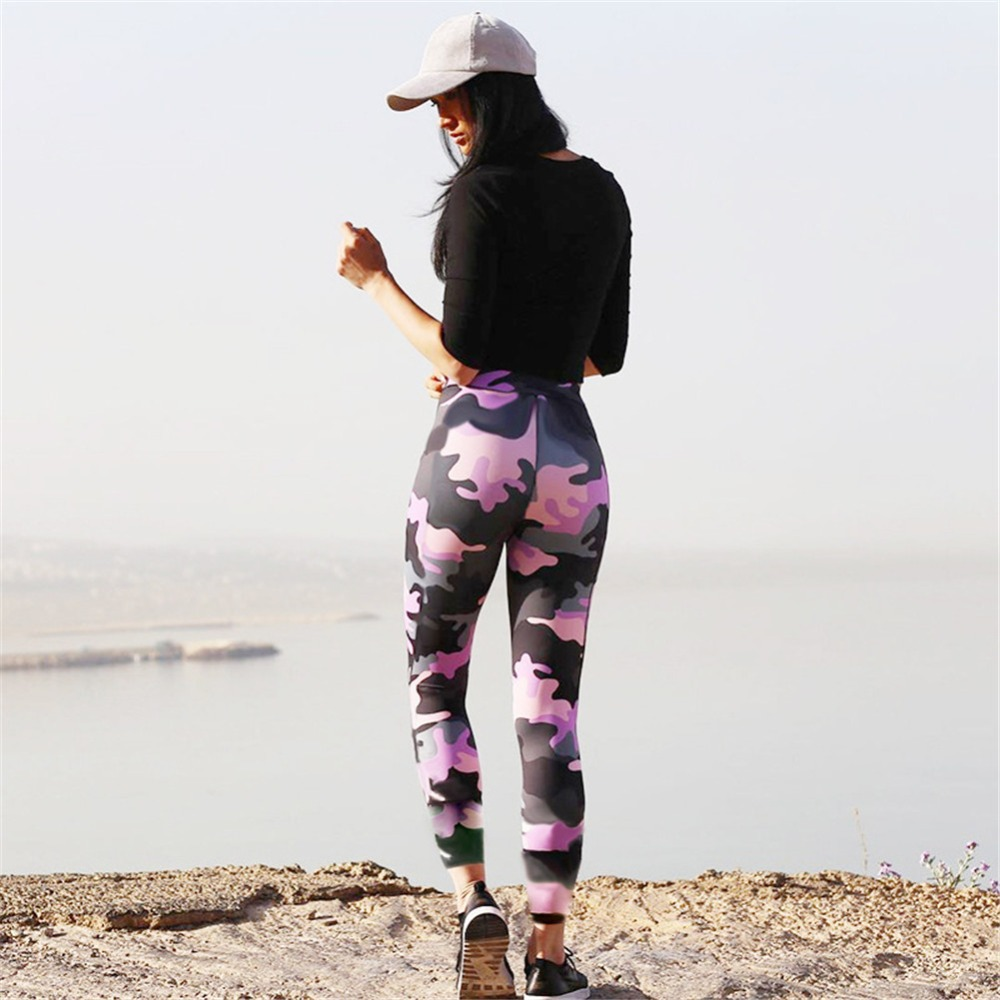 6d7e742ecd7a5 2019 Camouflage Print Leggings Women Fitness Sexy Sport Gym Seamless ...