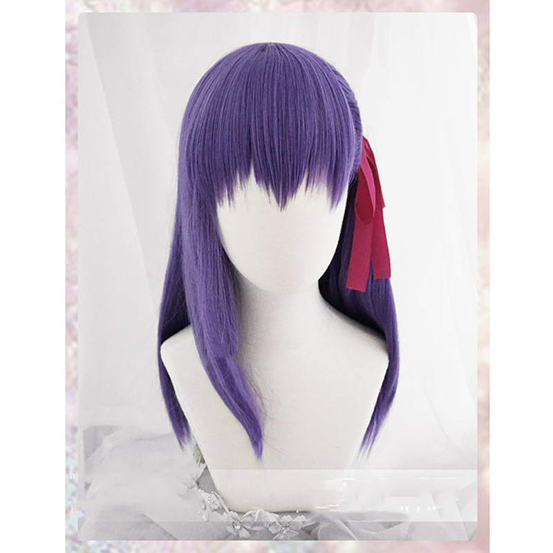 Sakura Matou Cosplay Wig Fate/stay night Costume Play Wigs Halloween Costumes Hair +Wig Cap