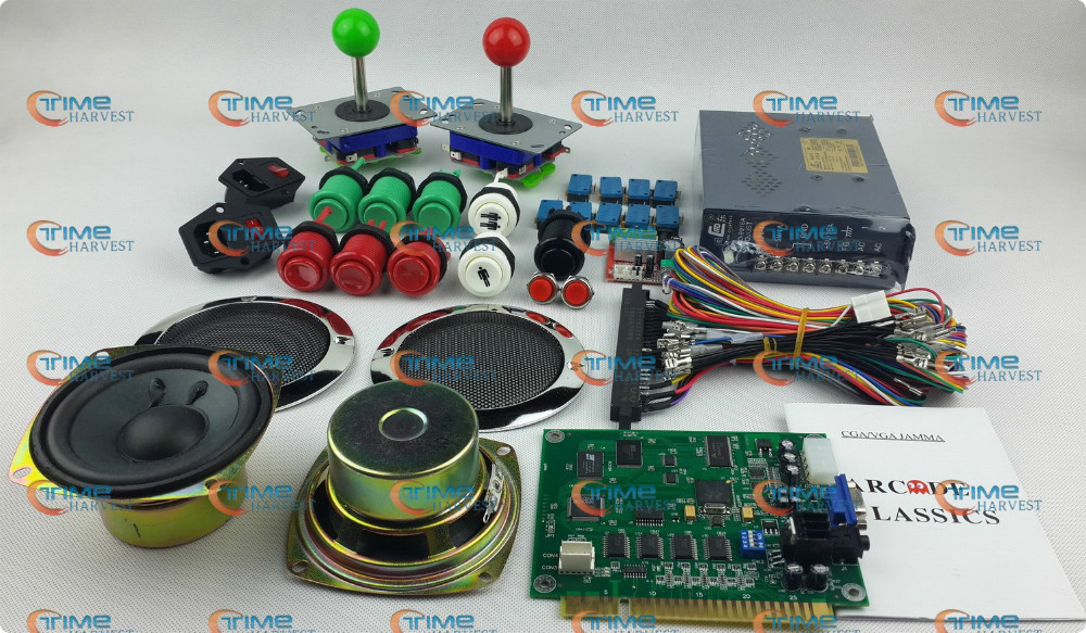 Arcade parts Bundles kit With Joystick Pushbutton Microswitch Player button Speaker 60 in 1 Game PCB to Build Up Arcade Machine twister family board game that ties you up in knots