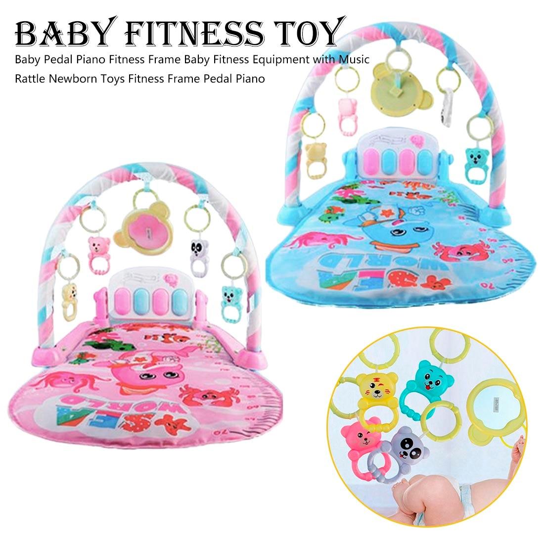 Baby Play Mat Round Lion Turtle Crawling Blanket Infant Game Pad Play Rug Kids Music Game Blanket Kids Crawling Mat