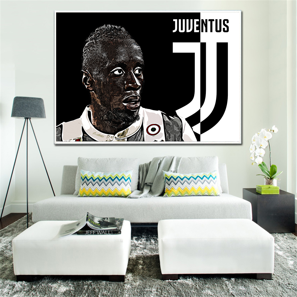 Pintura Juventus Sport cartel blanco y negro Cristiano Ronaldo Juan ...