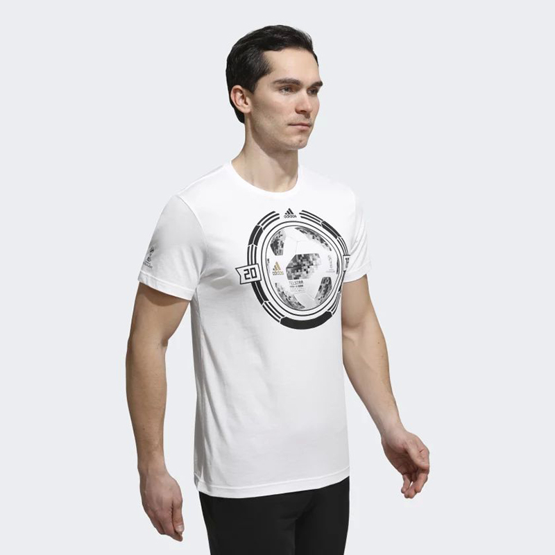 Male T-Shirt Adidas CW2086 sports and entertainment for men sport clothes 3d letters and banknote printed round neck short sleeve men s t shirt