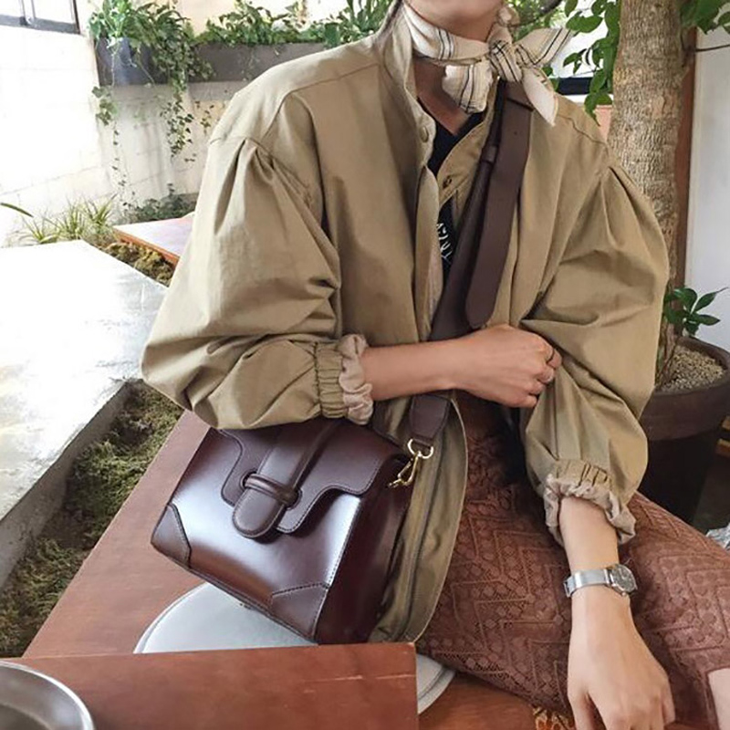 Han Guodong gate spring summer new style retro color handbag INS with the same style wide